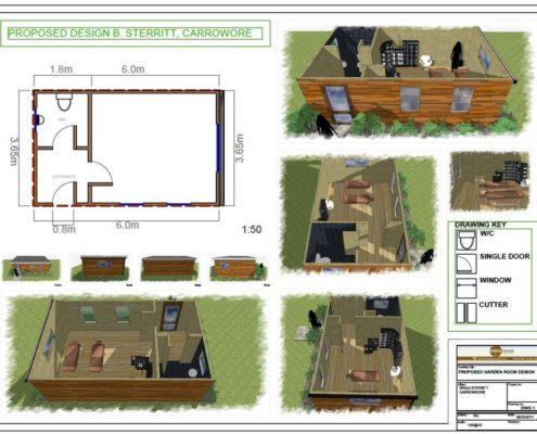 Garden Rooms 3d design drawings