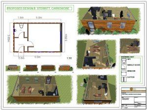 Bespoke garden rooms design drawings